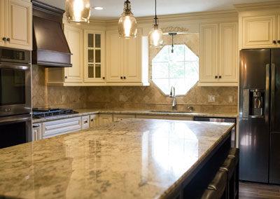 beige kitchen design - boone's kitchen bath & patio